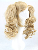 cheap Men's Pants & Shorts-hot long lolita wig ponytails heat resistant wavy synthetic wigs curly blonde 2 ponytail anime wig Halloween