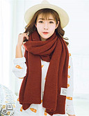 cheap Fashion Scarves-Women's Basic Rectangle - Solid Colored / Spring / Fall / Winter