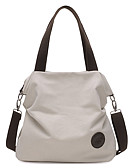 cheap Quartz Watches-Women's Bags Canvas Tote Solid Colored Gray / Coffee / Blue