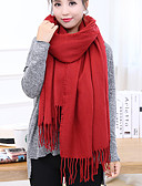 cheap Fashion Scarves-Unisex Basic Cotton Rectangle - Solid Colored / Spring / Fall / Winter