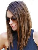 זול שמלות נשים-שיער אנושי חזית תחרה פאה ישר פאה 130% שיער טבעי / פאה אפרו-אמריקאית / 100% קשירה ידנית בגדי ריקוד נשים בינוני / ארוך פיאות תחרה משיער אנושי