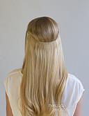 preiswerte Bauchtanzkleidung-Flip In Haarverlängerungen Glatt Echthaar Mittleres Kastanienbraun Dunkeles Rotbraun Blonde