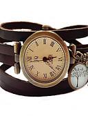 billige Rustfrit stål-Dame Armbåndsur Hot Salg / / Rustfrit stål Bånd Vintage / Armring / Mode Sort / Brun / Kaki
