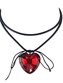 cheap Corsets-Women's Crossover Pendant Necklace / Collar Necklace - Heart Bohemian, Gothic, Fashion White, Black, Red Necklace For Party, Daily, Casual