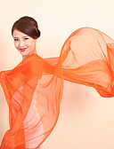 preiswerte Damen Schals-Damen Grundlegend, Chiffon Rechteck Solide / Weiß / Orange / Grün