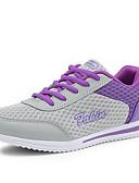 preiswerte Damen Blazers & Anzugjacken-Damen Schuhe Tüll Frühling / Sommer / Herbst Komfort Sneakers Walking Flacher Absatz / Plattform Schnürsenkel Grau / Purpur / Blau