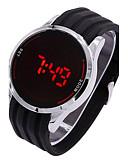 baratos Relógios de Pulseira-Homens Relógio Esportivo / Relogio digital Silicone Banda Amuleto Preta / Aço Inoxidável / SSUO 377