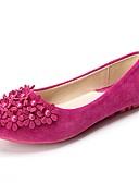voordelige Meisjeskleding-Dames Schoenen Kunstleer Lente / Zomer Comfortabel Platte schoenen Wandelen Platte hak Imitatieparel Paars / Fuchsia / Roze