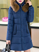 cheap Women's Downs & Parkas-Women's Plus Size Long Down - Solid Colored Hooded / Winter