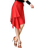 hesapli Göbek Dansı Giysileri-Latin Dansı Etek Kadın's Eğitim / Performans Splandeks / ChinIon Leopar Etek