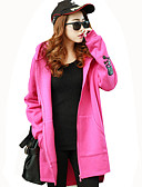 cheap Women's Hoodies & Sweatshirts-Women's Going out Active Long Hoodie Jacket - Solid Colored