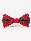 cheap Men's Ties & Bow Ties-Men's Party Work Basic Cotton Bow Tie - Check