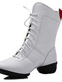 preiswerte Hochzeitsgeschenke-Damen Schuhe für modern Dance / Tanzstiefel Kunstleder Stiefel / Gespaltene Sole Schnürsenkel Niedriger Heel Keine Maßfertigung möglich