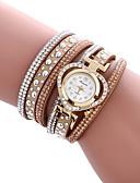 preiswerte Armband-Uhren-Damen Armband-Uhr Schlussverkauf / Cool / / PU Band Heart Shape / Freizeit / Modisch Schwarz / Weiß / Blau