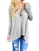 저렴한 티셔츠-여성용 솔리드 V 넥 티셔츠,빈티지 스트리트 쉬크
