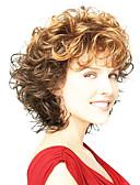tanie Koszulki i tank topy męskie-Peruki syntetyczne Curly Włosie synetyczne Włosy ombre Brązowy Peruka Damskie Bez czepka Brązowy