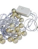 お買い得  レディースドレス-JIAWEN 5m ストリングライト 20 LED Dip LED 温白色 防水 220 V / 110 V / # / IP65