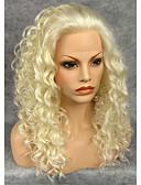 tanie Romantyczna koronka-Peruki syntetyczne Damskie Curly Włosie synetyczne Naturalna linia włosów Peruka Siateczka z przodu Blond Szary