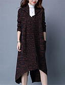 abordables Jerséis de Mujer-Mujer Tallas Grandes Cardigan - Un Color