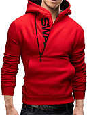 cheap Men's Hoodies & Sweatshirts-Men's Plus Size Sports Weekend Active Hoodie - Letter
