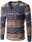 billige Herregensere og -cardigans-Herre Langermet Pullover Trykt mønster V-hals