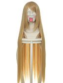 preiswerte Modische Uhren-Synthetische Perücken / Perücken Glatt Blond Synthetische Haare Blond Perücke Damen Lang / Sehr lang Kappenlos Gelb