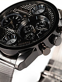 cheap Sport Watches-Oulm Men's Wrist Watch Dual Time Zones / Cool Alloy Band Casual Silver / SSUO 377