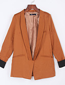 cheap Women's Blazers-Women's Blazer - Solid Colored Shirt Collar