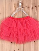 povoljno Suknje za djevojčice-Djevojčice Čipka Dnevno Jednobojni Suknja Plava