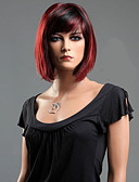 cheap Ice Skating Dresses , Pants & Jackets-black red mixed straight hair wave synthetic fiber wig