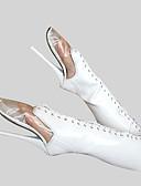 tanie Damska spódnica-Damskie Seksowne buty PU Zima Modne obuwie Botki Szpilka Okrągły Toe Zamek / Sznurowane Biały / Impreza / bankiet