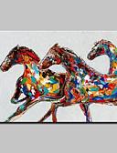 billige Hættetrøjer og sweatshirts til herrer-Hang-Painted Oliemaleri Hånd malede - Dyr Moderne Lærred