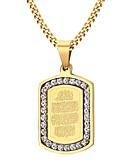 رخيصةأون قمصان رجالي-للرجال مكعب زركونيا قلائد الحلي - الفولاذ المقاوم للصدأ, زركون, مطلية بالذهب موضة ذهبي قلادة مجوهرات من أجل حزب, يوميا, فضفاض
