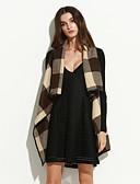 ieftine Îmbrăcăminte Damă de Exterior-Pentru femei Palton Șic & Modern-Bloc Culoare,Model Carouri