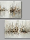 olcso Szalagavató ruhák-Hang festett olajfestmény Kézzel festett - Absztrakt Klasszikus Modern Vászon