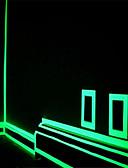 abordables Corbatas y Pajaritas para Hombre-fluorescencia verde pegatina noche tira de cinta luminosa decoración calcomanía de alquiler de motos de la puerta de la escalera luminosa