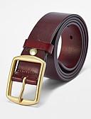 cheap Men's Belt-Men's Vintage Brass Buckle - Solid Colored / All Seasons