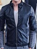 お買い得  メンズ アウター-男性用 ジャケット-パンク&ゴシック スタンド スリム カラーブロック パッチワーク