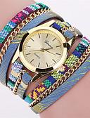 baratos Relógios da Moda-Mulheres Bracele Relógio Relógio de Pulso Quartzo Legal Punk Colorido Tecido Banda Analógico Amuleto Vintage Casual Cores Múltiplas - Vermelho Azul Rosa claro