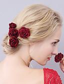 hesapli Çiçekçi Kız Elbiseleri-Kumaş Çiçek  -  Başlık / Saç Pimi 1pc Düğün / Özel Anlar Başlık