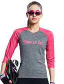 abordables Relojes Brazalete-SANTIC Mujer Maillot de Ciclismo Bicicleta Camiseta / Camiseta / Maillot / Top Resistente a los UV, Transpirable, Suave Retro, Retazos,