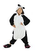 baratos Vestidos de Casamento-Crianças Pijamas Kigurumi Panda Pijamas Macacão Lã Polar Preto Cosplay Para Meninos e meninas Pijamas Animais desenho animado Festival / Celebração Fantasias