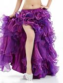 hesapli Göbek Dansı Giysileri-Göbek Dansı Bale Eteği ve Etekler Kadın's Performans Splandeks Ayrık Ön Kolsuz Düşük Etek