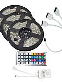 お買い得  ガールズファッション-KWB 15m ライトセット 900 LED 3528 SMD RGB リモートコントロール / カット可能 / 調光可能 12 V / # / IP65 / 防水 / 接続可 / 車に最適