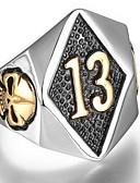 billige Hatte til mænd-Herre Ring Signet Ring Titanium Stål Dødningehoved Punk Moderinge Smykker Sølv / Gylden Til Daglig 8 / 9 / 10 / 11 / 12