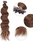 preiswerte Damen Socken & Strumpfwaren-Fusion / U-Spitze Haarverlängerungen Locken Echthaar Haarverlängerungen Echthaar Damen - Aschbraun Medium Goldene Brown Mittelbraun