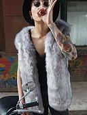 お買い得  メンズジャケット&コート-男性用 日常 冬 レギュラー コート ソリッド フェイクファー