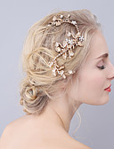 cheap Cocktail Dresses-Rhinestone Alloy Barrette Hair Clip 1 Wedding Special Occasion Headpiece