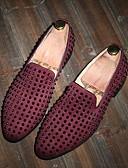tanie Męskie spodnie i szorty-Męskie Komfortowe buty Skóra Lato Mokasyny i buty wsuwane Czarny / Niebieski / Burgundia