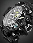 Недорогие Спортивные часы-SANDA Муж. Спортивные часы Наручные часы Кварцевый Черный 30 m Защита от влаги Будильник Календарь Аналоговый На каждый день Кольцеобразный Мода - Желтый Красный Зеленый / Светящийся / Хронометр